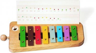 Glockenspiel m. farb.Sonor-KP+Noten